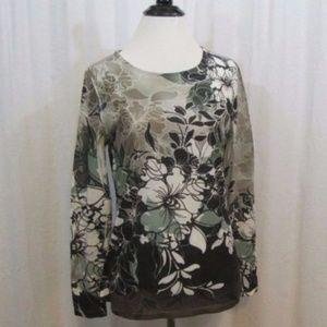 Coldwater Creek Multi Color Floral Top XS 4